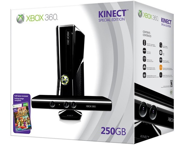 Xbox 360 250GB + Kinect bundle